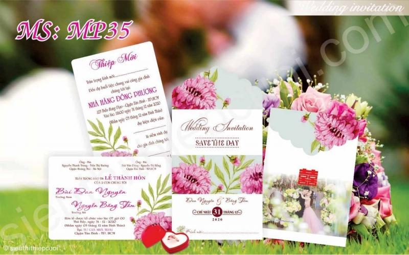 Siêu thị thiệp cưới - dịch vụ in thiệp cưới đẹp giá rẻ nhất tại Đà Nẵng (hình ảnh lấy từ website của Siêu thị thiệp cưới)