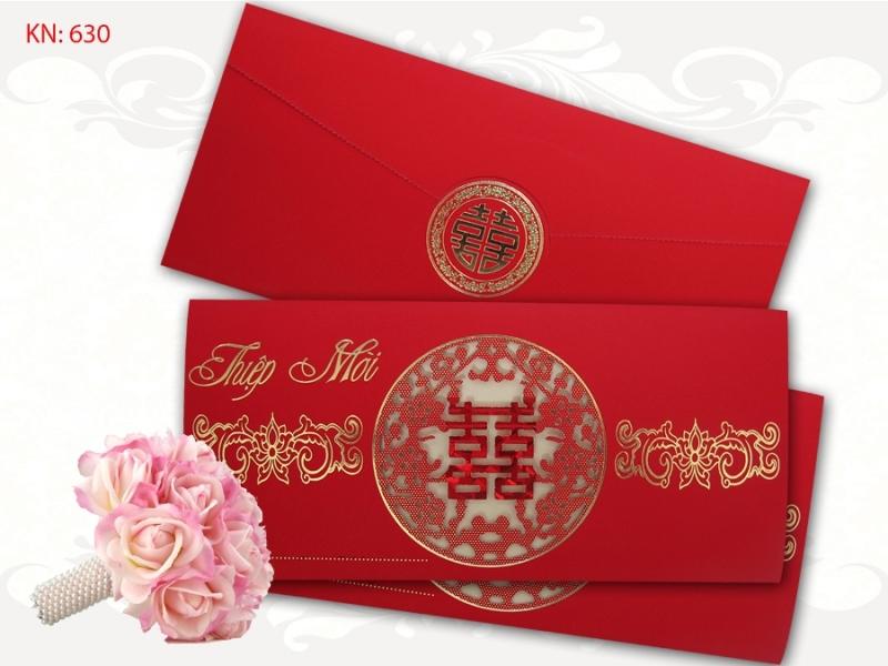 Mẫu thiệp cưới của cửa hàng in thiệp cưới Hải Yến