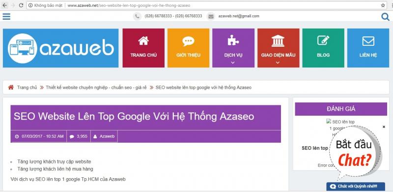 Dịch vụ Seo của Azaweb