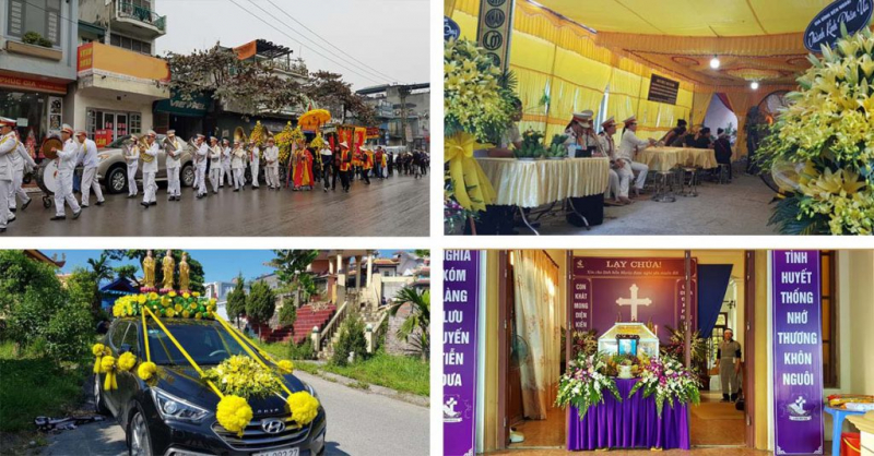 """Việt Thu Hà cung cấp dịch vụ tang lễ trọn gói với phương châm """"Vẹn tròn hiếu nghĩa – Thành Kính nhất tâm""""."""