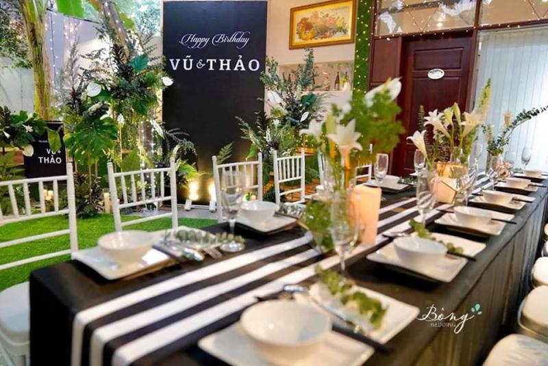 Dịch vụ trang trí tiệc cưới Bông Wedding