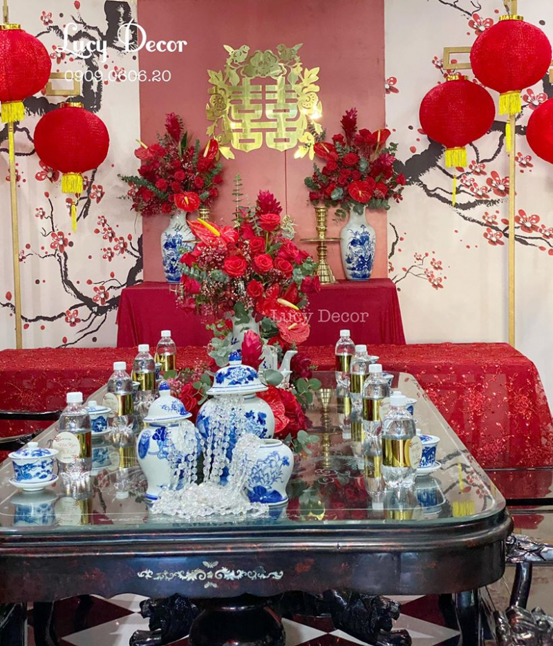 Dịch vụ trang trí tiệc cưới Đào Hữu Tài