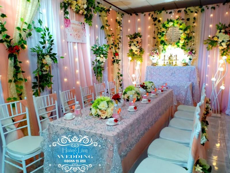 Dịch vụ trang trí tiệc cưới Hoàng Lâm Wedding