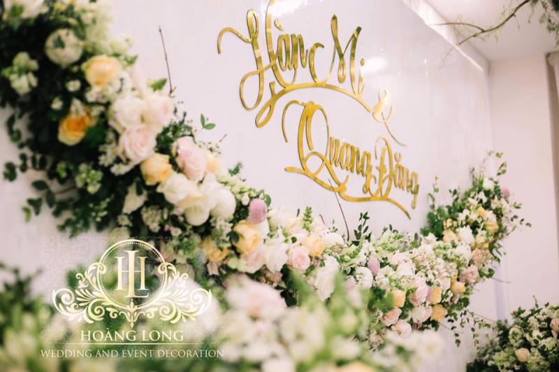 Dịch vụ trang trí tiệc cưới Hoàng Long
