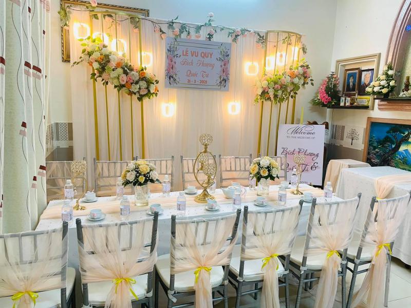 Dịch vụ trang trí tiệc cưới Khánh Giang