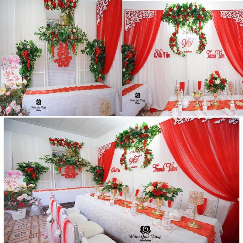 Dịch vụ trang trí tiệc cưới Mâm Quả Vàng