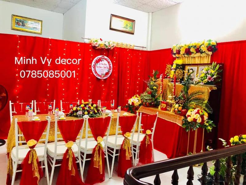 Dịch vụ trang trí tiệc cưới Minh Vy Decor
