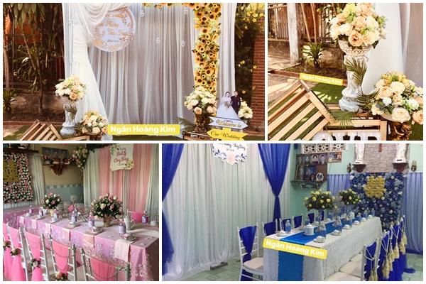 Dịch vụ trang trí tiệc cưới Ngân Hoàng Kim