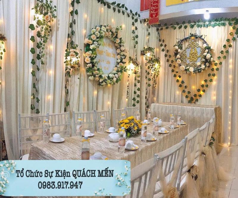 Dịch vụ trang trí tiệc cưới Rạp cưới Quách Mến