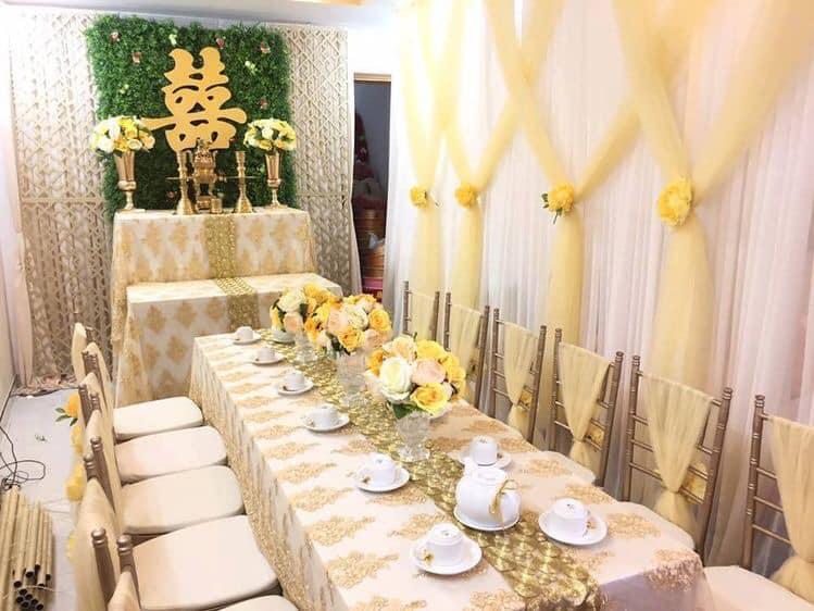 Dịch vụ trang trí tiệc cưới Sương Mai