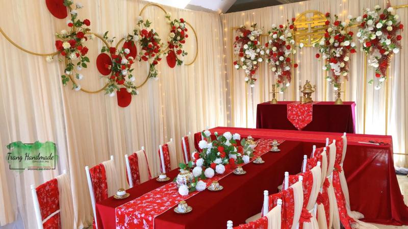 Dịch vụ trang trí tiệc cưới Trang handmade