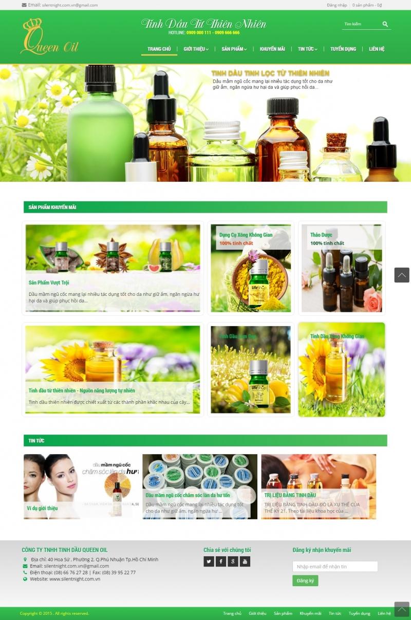 Hình ảnh 1 website mà công ty thiết kế