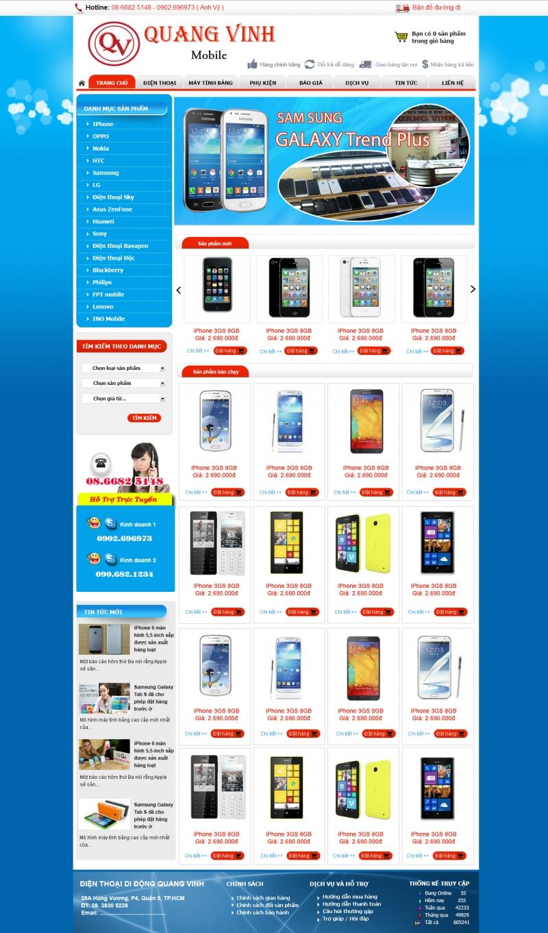 1 web bán điện thoại cua công ty