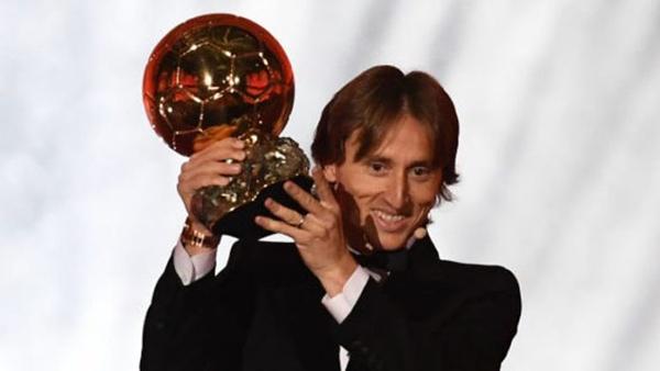 Luka Modric giành Quả bóng vàng 2018