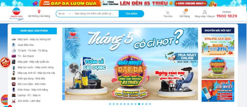 Website Trung tâm điện máy Thiên Hòa