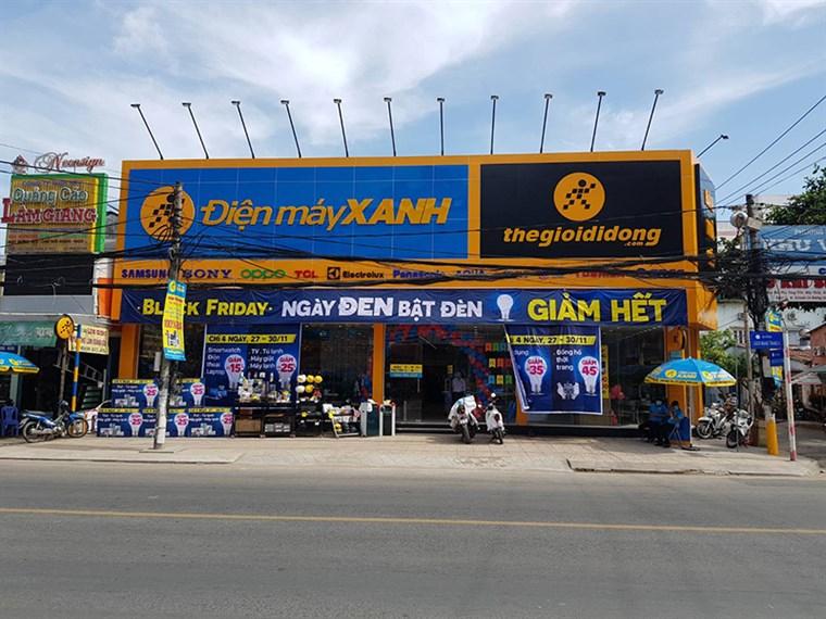 Điện máy Xanh: Số 115 đường Cách Mạng Tháng Tám, phường An Thới, quận Bình Thủy, TP. Cần Thơ