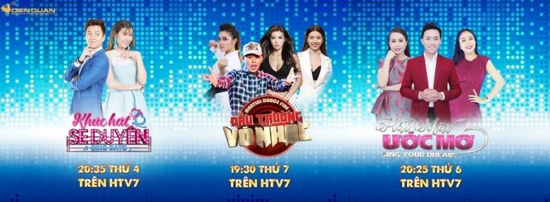 Các chương trình giải trí trên HTV7 của Điền Quân Media & Entertainment