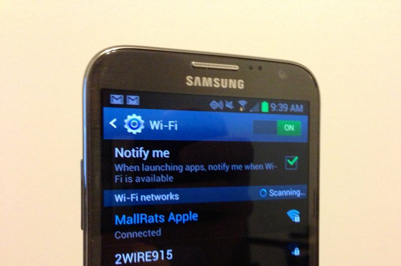 Điện thoại Samsung mất wifi