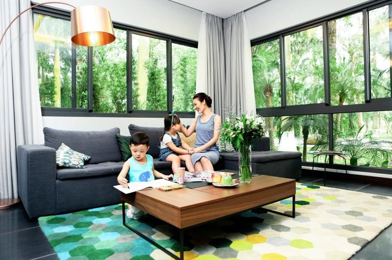 Diện tích làm mát rộng sẽ giúp cho khoảng không gian sống trong nhà mát mẻ hơn.