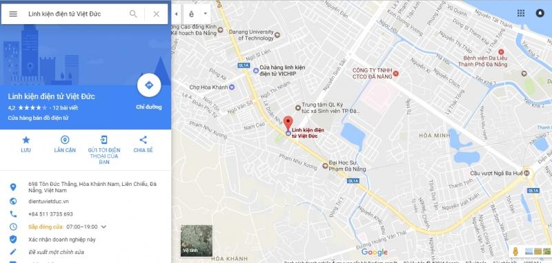Bản đồ cửa hàng Điện tử Việt Đức