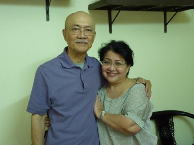 Nghệ sĩ Diệp Lang và vợ