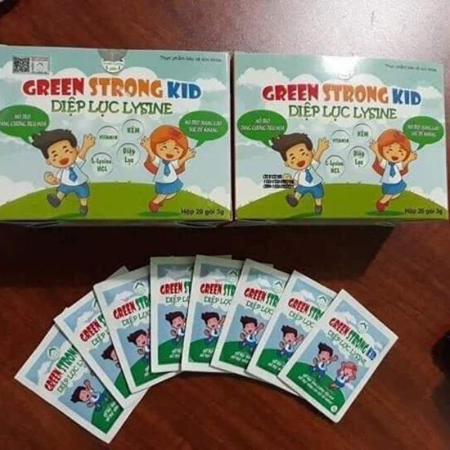 Diệp lục Lysine (Green Strong Kid) bổ sung chất xơ cho bé hết táo bón