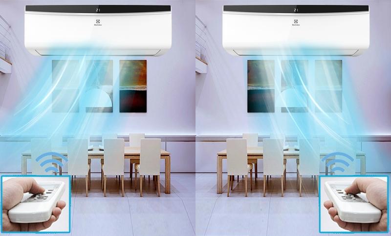 Công nghệ cảm biến iFEEL giúp điều chỉnh chính xác nhiệt độ tại vị trí người dùng như mong muốn