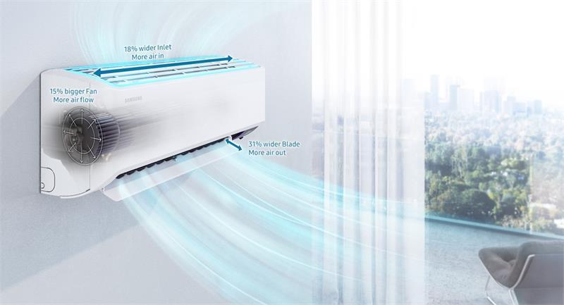 Điều hòa Samsung 1 chiều Inverter 21500BTU AR24TYHYCWKNSV