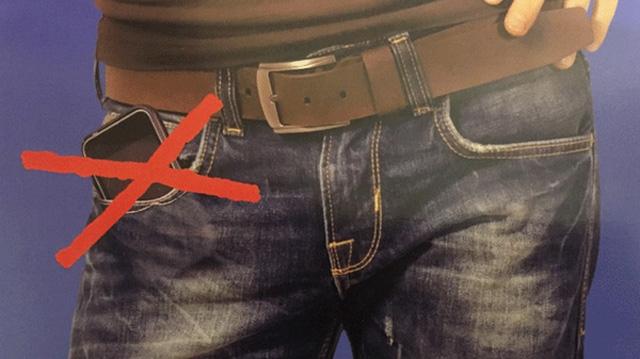 Điện thoại di động trong túi quần ảnh hưởng đến chất lượng tinh binh