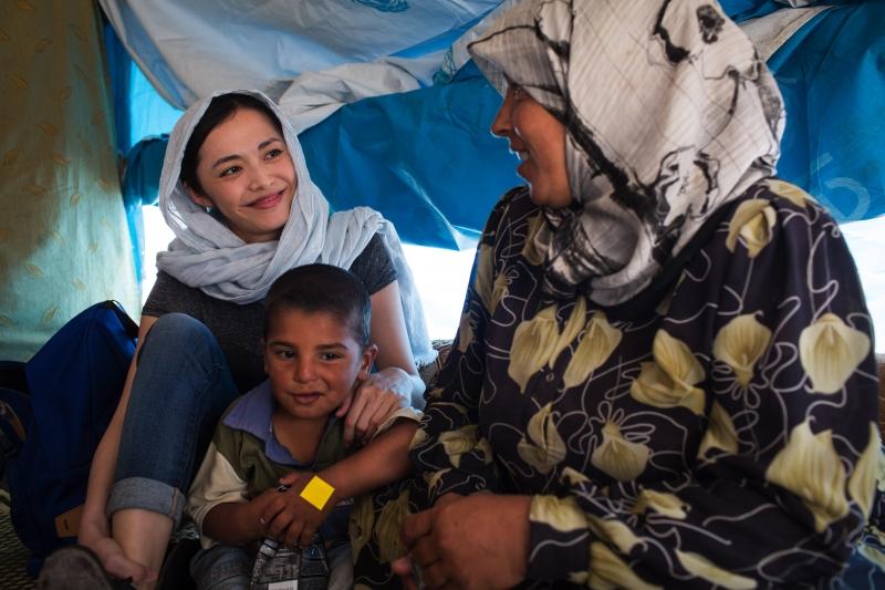 Liên Hợp Quốc lựa chọn làm Đại sứ thiện chí thường đến thăm các trại tị nạn tại Châu Phi