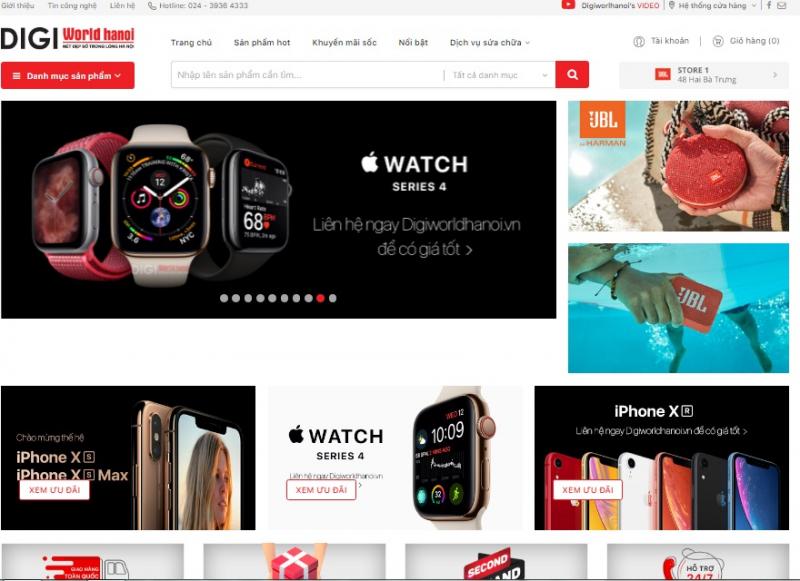 Website chính thức của cửa hàng.