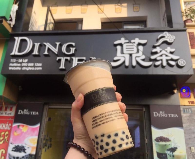 Ảnh chụp cửa hàng trà sữa Dingtea Thái Bình