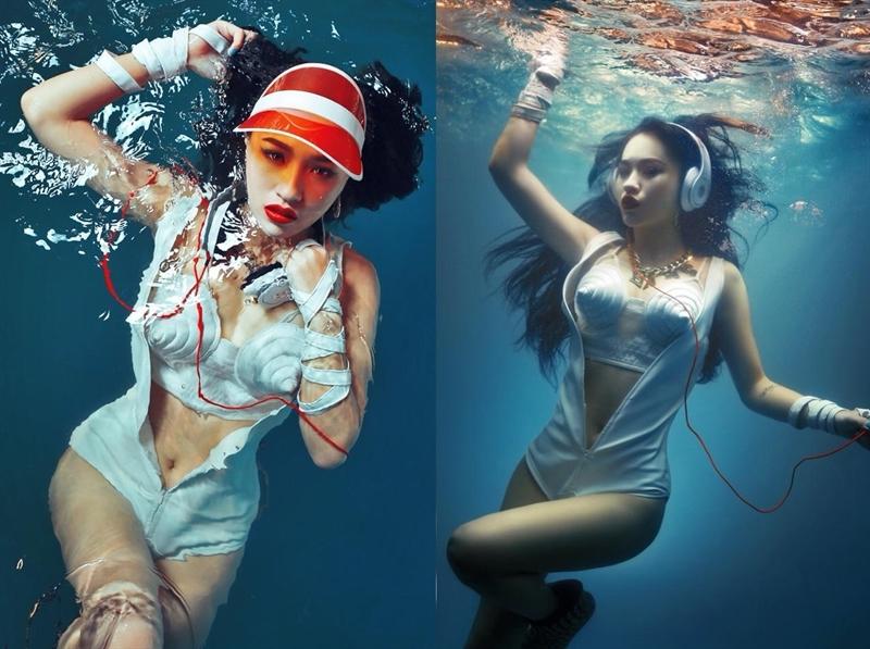 DJ Tít xinh đẹp và gợi cảm trong bộ ảnh dưới nước