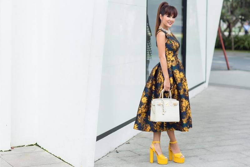Hoa hậu Áo Dài Kiều Khanh và  Pre-Fall 2016 by Đỗ Mạnh Cường - Nguồn: FB Do Manh Cuong