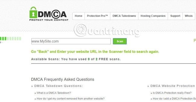 DMCA Scan