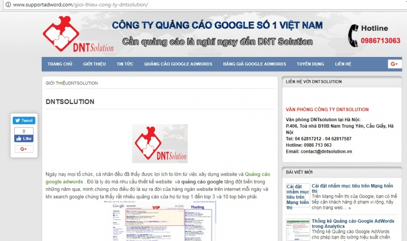 Website của DNT Solution