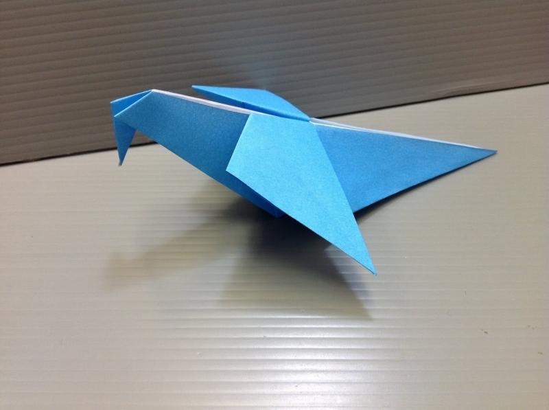 Gấp con chim bồ câu bằng giấy