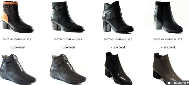 Sản phẩm boot của đồ da Thái An