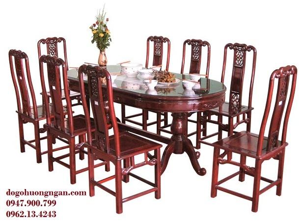 Bộ bàn ăn sang trọng, lịch sự tại Đồ gỗ Hường Ngân