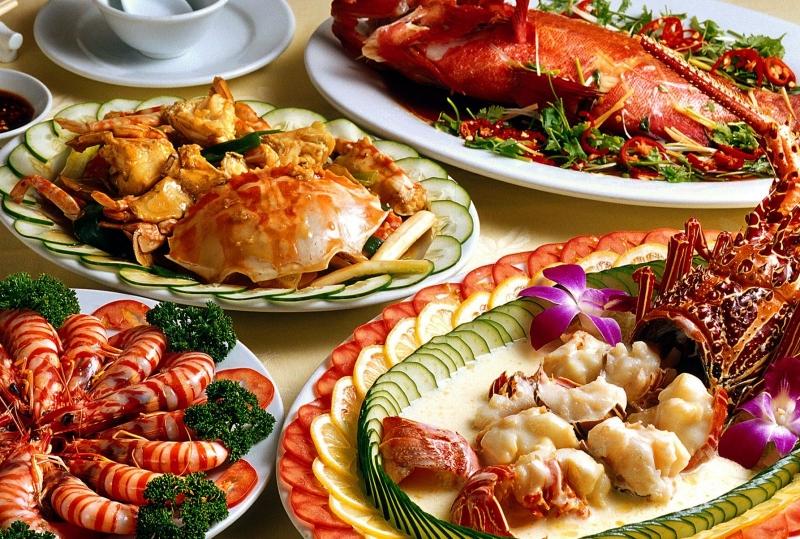 Các món ngon được chế biến từ hải sản