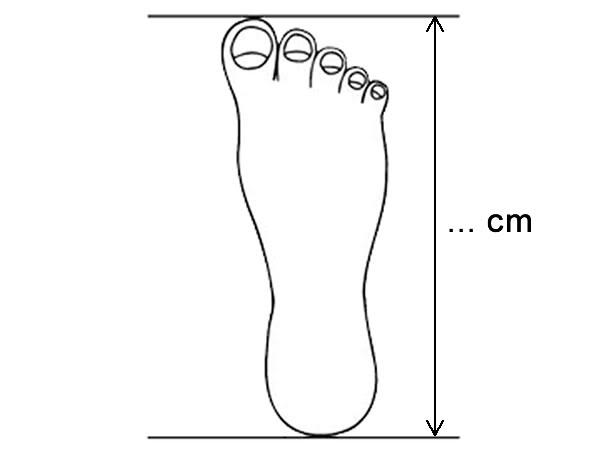 Cách đo chiều dài chân bé