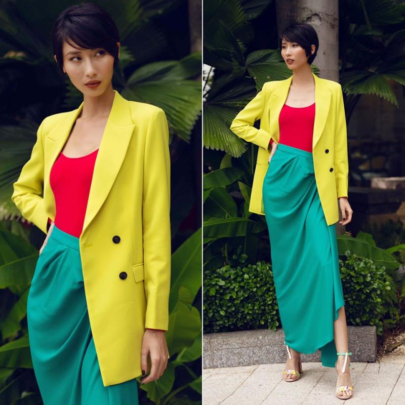 Màu sắc cũng là tiếng nói tinh tế của phụ nữ thông qua trang phục. Những gam màu tươi tắn còn mang đến nguồn năng lượng tích cực và những sự khởi đầu đầy may mắn.