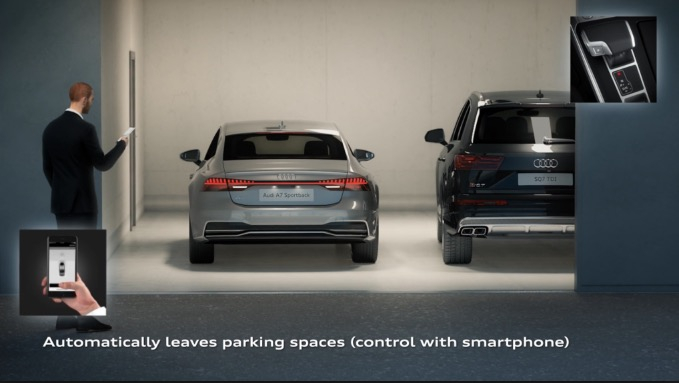 Đỗ xe tự động Parking Pilot và Garage Pilot
