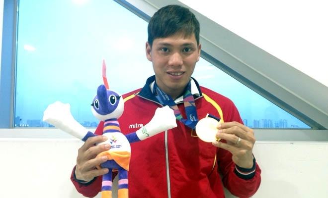 Võ Thanh Tùng giành HCB quý giá ở nội dung 50m bơi tự do nam