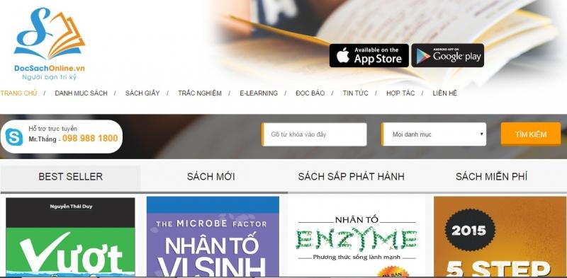 Website của Docsachonline.vn