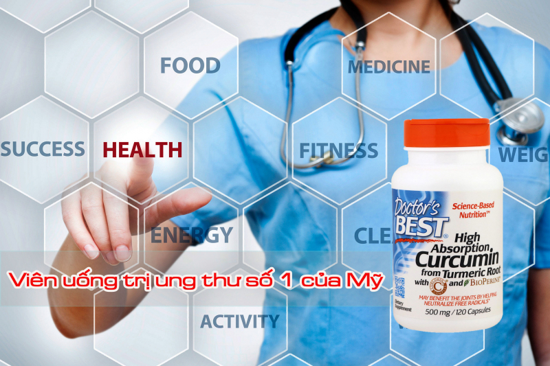 Doctor's Best Curcumin C3 Complex là thuốc ngăn chặn quá trình lão hóa ở người già và phòng ngừa các bệnh ung thư hiệu quả.