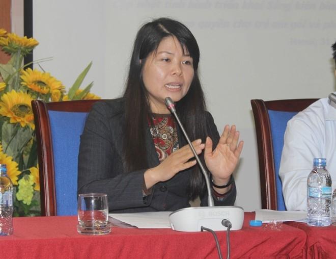 Bà Trần Phương Nhung - Giám đốc Chương trình về Giới của UNESCO: