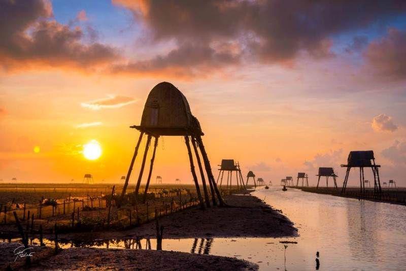 Vẻ đẹp hoang sơ của Đồng Châu lúc bình minh