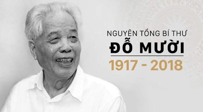 Đồng chí Đỗ Mười từ trần, để lại niềm tiếc thương vô hạn cho toàn thể nhân dân Việt Nam