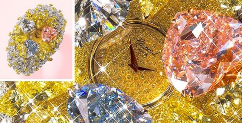 Chopard 201 Carat  được dát 3 viên kim cương hình trái tim nguyên khối và 874 viên kim cương với đủ màu sắc, kích cỡ và hình dáng